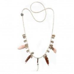 Mušličkový náhrdelník HIPANEMA Layla White