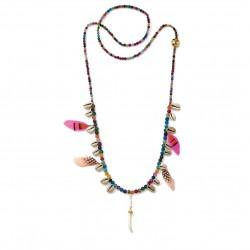 Mušličkový náhrdelník HIPANEMA Layla Pink